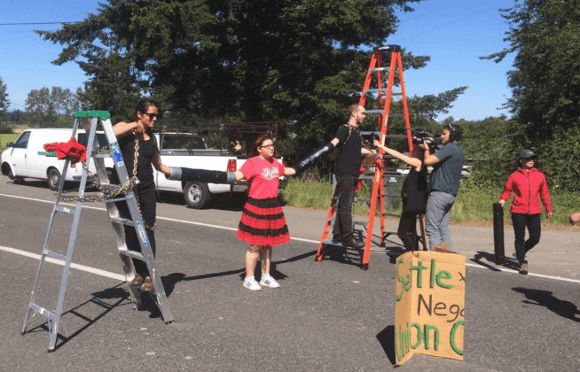 Washington State Trump Blockade