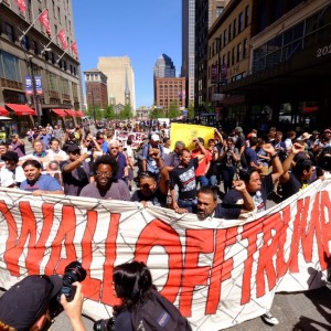 Updates from #WallOffTrump Protest at the RNC