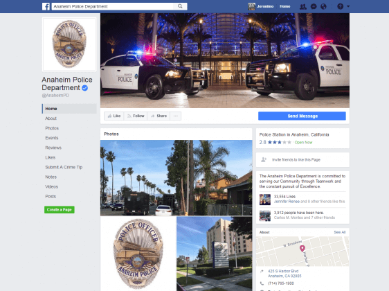 People Are Dragging the Anaheim PD on Facebook After Cops